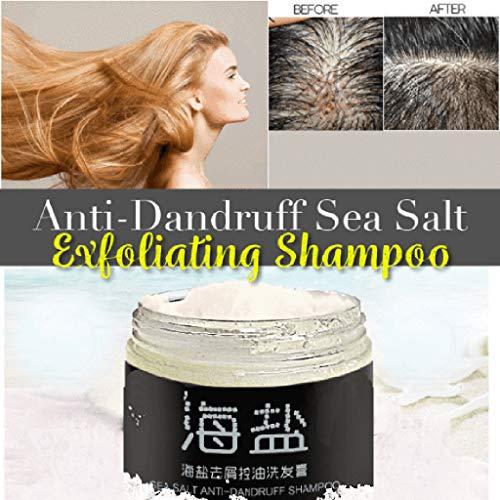 TAOtTAO Anti-Schuppen-Meersalz Peeling entfettet Kopfhaut-Shampoo Gesundes Haar Meersalz-Antischuppenshampoo