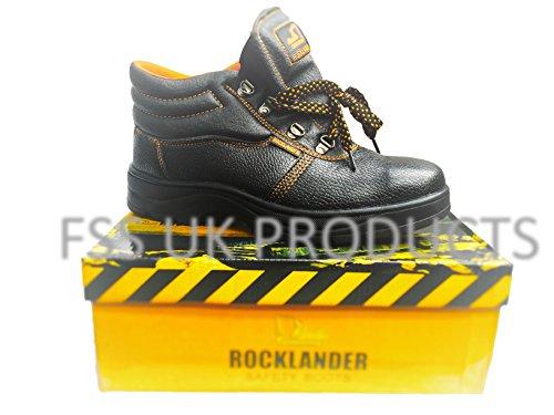 FSS UK Stivali da lavoro di sicurezza in pelle e intersuola in acciaio, misura 7-13da uomo nuovo, SIZE 9, 1