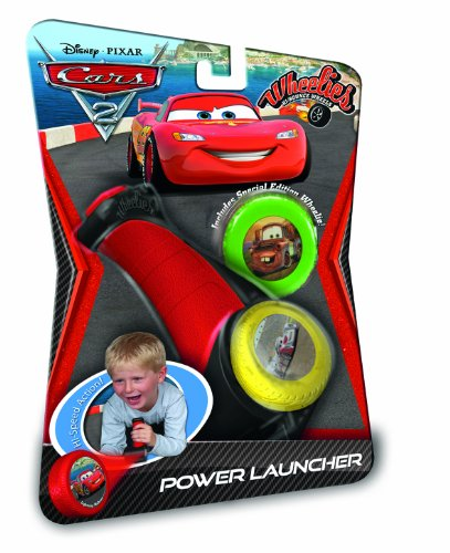 089518 - Disney Cars 2 - Wheelies Power Launcher, inklusiv 1 Special-Edition Wheelie, 14 cm, bunt (Wheelies Cars 2)
