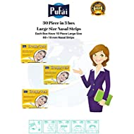 Pufai Breathe Fresh Nasal Strips.30 Piece in 3 Box Large Size Nasal Strips (66 * 19 mm).