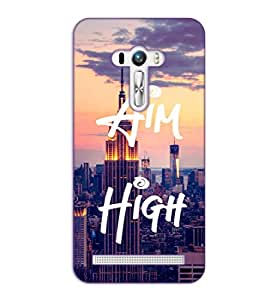 Happoz ASUS Zenfone 2 Laser 5 Inch (ZE500KL) Cases Back Cover Mobile Pouches Shell Hard Plastic Graphic Armour Premium Printed Designer Cartoon Girl 3D Funky Fancy Slim Graffiti Imported Cute Colurful Stylish Boys D419