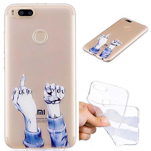 XCYYOO Funda Compatible con Xiaomi Mi 5X / Xiaomi Mi A1 Silicona Carcasas, Transparente Suave Ultrafina Gel TPU Anti-Choque Anti-Arañazos Ultra Delgado Flexible Ligero Goma Parachoques Cover