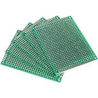 Aussel 5 piezas Junta de PCB Universal doble cara Prototyping paneles de paneles múltiples tamaños