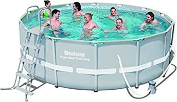 Bestway Frame Pool Power Steel Set, grau, 427 x 122 cm