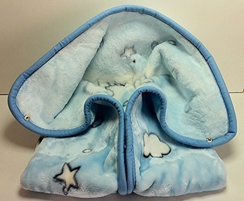 Baby Sac COUVERTURE POLAIRE bébé GIGOTEUSE NID D'ANGE idee cadeau naissance BLEU NISSANOU