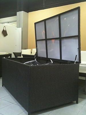 XXL RATTAN KISSENBOX, 140 x 80 x 65cm, BRAUN EINE DER GRÖßTEN KISSENBOXEN DIE AUF DEM DEUTSCHEN MARKT ANGEBOTEN WERDEN