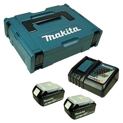 Preisvergleich Produktbild Makita Makpac Gr. 1 + Makita DC 18 RC Ladegerät + 2 x Makita BL 1840 Akku 4,0 Ah