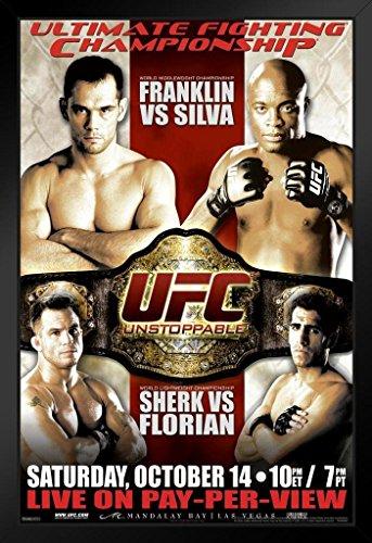 Pyramid America Offizielles Poster UFC 64 Rich Franklin vs Anderson Silva Sports gerahmt, 35,6 x 50,8 cm