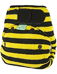 TotsBots Bamboozle Stretch 'Buzz' Reusable Washable Nappy with Bumble Bee Pattern - Size 1