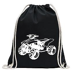 KIWISTAR - Quad Motorbike Turnbeutel Fun Rucksack Sport Beutel Gymsack Baumwolle mit Ziehgurt