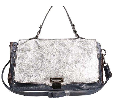 Emily &Noah Handtasche Lara Überschlagtasche Tasche glitzer Clutch modern Blau