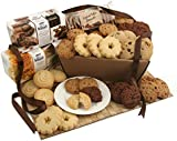 Biscuits Gifts - Cookies and Biscuits Delivered Next Day - Favourite Home Baked Biscuits Presented in Brown Kraft Style Gift Box Wrapped in Cellophane and Finished with Ribbon
