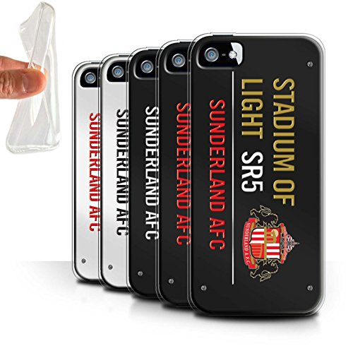 Officiel Sunderland AFC Coque / Etui Gel TPU pour Apple iPhone 5/5S / Pack 6pcs Design / SAFC Stadium of Light Signe Collection Pack 6pcs