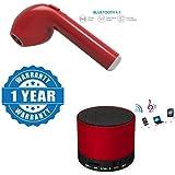 Captcha I7 Mini Fashion Bluetooth Wireless Single Headset With S10 Bluetooth Portable Speaker Compatible With Xiaomi, Lenovo, Apple, Samsung, Sony, Oppo, Gionee, Vivo Smartphones (One Year Warranty)
