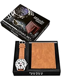 Mikado Exclusive Combo Series Of Analog Watch & Wallet For Boy's & Men's