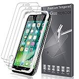LK Protection écran pour iPhone 7 Plus/iPhone 8 Plus, [3 Pack] [Max Coverage] Verre Trempé Film Protection[Installation Facile Cadre d'Alignement] [sans Bulles] avec Garantie de Remplacement à Vie