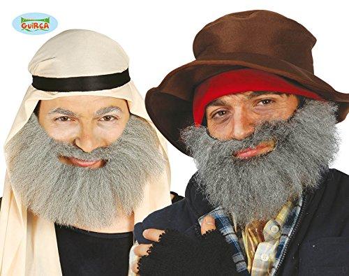 Grau Bart Canuta für arabische Verkleidung Landstreicher clochard (Arabische Bart)