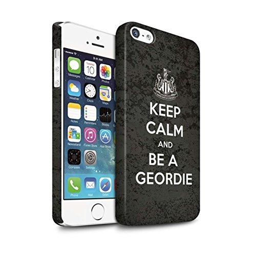 Officiel Newcastle United FC Coque / Clipser Matte Etui pour Apple iPhone 5/5S / Pack 7pcs Design / NUFC Keep Calm Collection Geordie