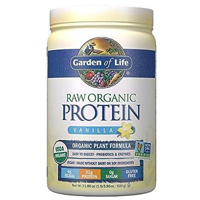 Garden of Life Organic Vegan Protein Powder with Vitamins and Probiotics - Raw Protein Shake, Sugar Free, Chocolate, 10 Count Tray
