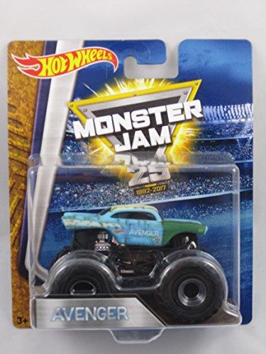 Monster Jam Hot Wheels 25th Anniversary Edition 2017 1:64 - Avenger Blue