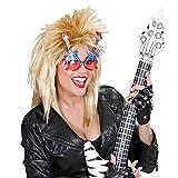 Lunettes de soirée guitare rock star lunettes de carnaval Elvis lunettes gag lunettes de déguisement USA lunettes de déguisement star de la musique lunettes de star rock n roll