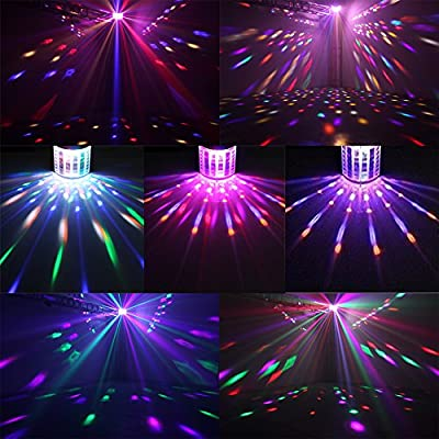 Derby Disco Lights GEELIGHT DMX512 RGB LED DJ Party Light Sound Actived Color Stage Lighting With Remote Control for Dancing Christmas Gift Thanksgiving KTV Bar Club Vocal Concert Birthday