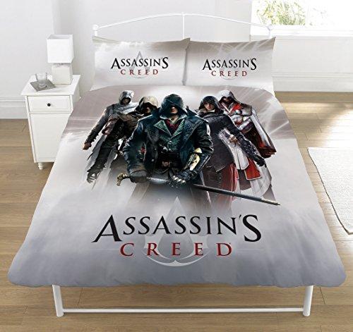 Assassins Creed 'Eroi Montage' Set copripiumino, multicolore