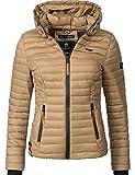 Marikoo Damen Übergangs-Jacke Jacke Steppjacke Samtpfote Deep Sand Gr. XL