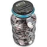 AOZBZ Digitale Salvadanaio Euro Counter, Automatico Coin Counting Soldi Scatola per i Bambini e Adulti, Sicuro Moneta Risparm