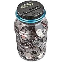 Digitale Salvadanaio Euro Counter, AOZBZ Automatico Coin Counting Soldi Scatola per i Bambini e Adulti, Sicuro Moneta Risparmio Contanti con Display LCD e Grande Capacità
