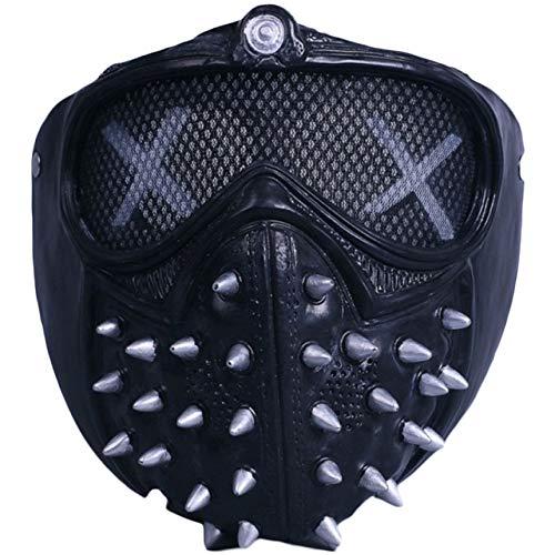 nch Maske Maske Spiel rund um Halloween Cosplay Maskenprops,Black ()