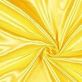 Polyestersatin Emma 5 – Gelb — Meterware ab 0,5m —