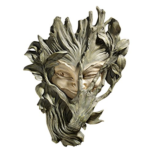 design-toscano-bashful-wood-sprite-wall-sculpture