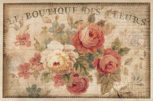 The Poster Corp Danhui Nai - Parisian Flowers III Kunstdruck (60,96 x 91,44 cm)