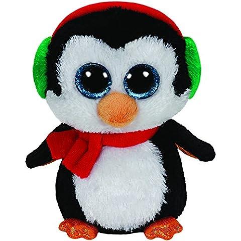 Ty - Pinguino Beanie Boos Glubschi North di peluche Edizione (Blu Icicle)