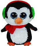 TY 41125 - North - Pinguin mit Schal und Glitzeraugen, Beanie Boo's, X-Mas, 15 cm