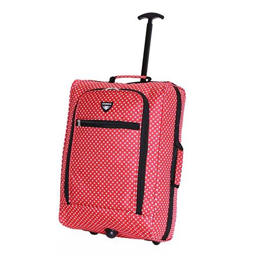 Slimbridge Montecorto super ligero 55 cm equipaje de mano con ruedas, Lunares Rojos