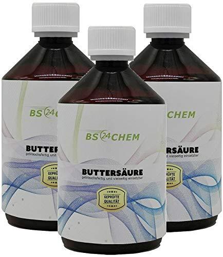 BS24CHEM 1500ml Buttersäure für z.B.Synthesen Anwendungen geeignet.Barcode 4260533464540 *Neu* in der EU als Marke eingetragen und zugelassen. Bis 13 Uhr bestellen, am selben Tag verschickt