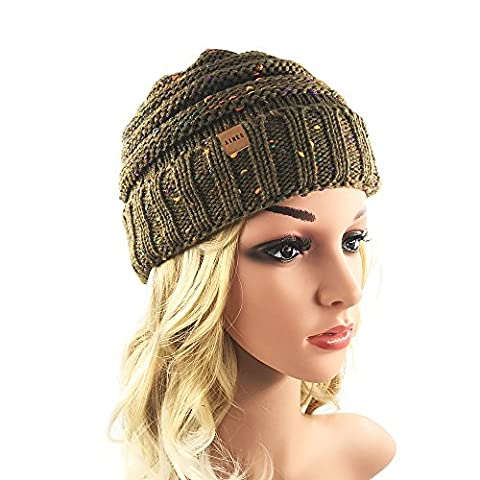 Women's Warm Chunky Thick Stretchy Knit Beanie Skull Cap Winter Knitting Warm Hat Daily Slouchy hats