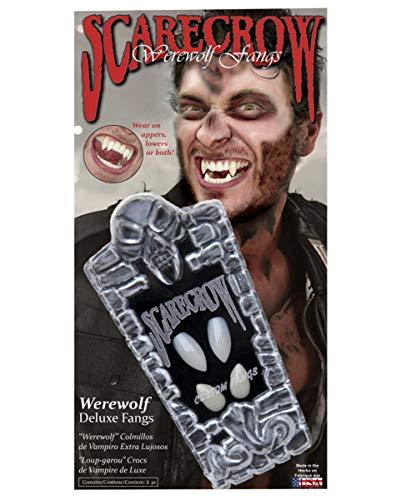 Werwolf Fangs Doppeleckzähne - Markt Verkäufer Kostüm