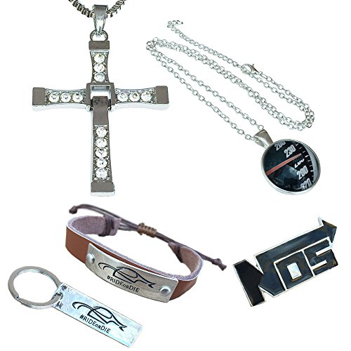 Fast und Furious Neuheit Geschenkpackung. Halsketten, Schlüsselanhänger, Pin und Armband. GESCHENKBOX
