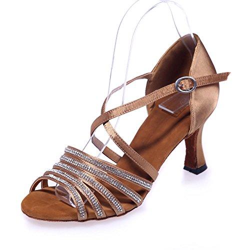 Chaussures De Danse L @ Yc Femmes Chaussures De Tatouage Mousseux Peuvent Être Personnalisés / Big Yards Brown