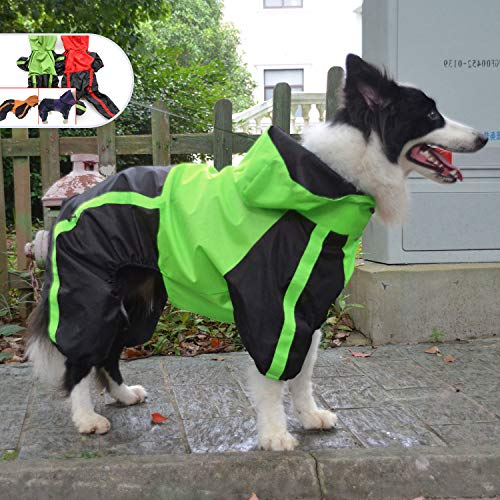 Hooded Pet Rainwear, Leg Protection, Small to Large Breeds