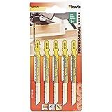 KWB 620125 - Cinco hojas de sierra de calar para madera 100/75 corte fino KWB PRO