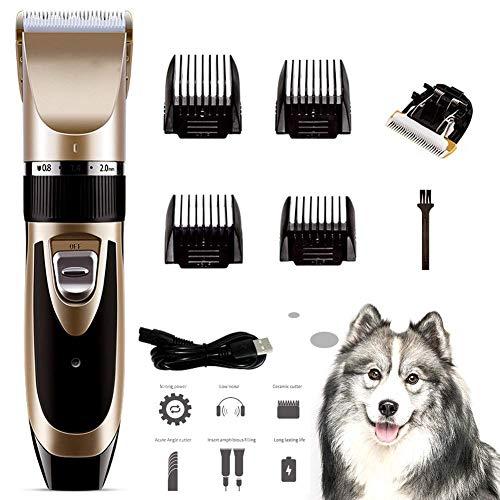 Youyababay Tosatrice Professionale per Cani Gatto,Tagliacapelli Elettrico Animali a Basso Rumore e Vibrazione