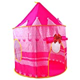Tenda Gioco per Bambine: Pink Castle Tent for Girls - Indoor or Outdoor Teepee Pop Up Tent for Little Princesses