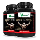 Vubasil Herbal Testosterone Booster For Men & Muscle Booster Supplement 120 Veg Capsules