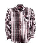 Herren Wander-Hemd | Freizeit-Hemden von Fifty Five - Benny navy/black/white check XL - schnell trocknend und bügelfreies langarm Herrenhemd