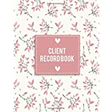 """Client Record Book: Large Size 8.5x11"""" Client Profile & Activity Log Book : Customer Number, Information, Date, Activity, Amo"""