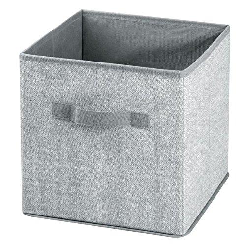 mDesign Caja para organizar juguetes - Caja de tela para artículos de bebé y niños - Organizador de tela para mantas, ropa o juguetes - Juego de 2 unidades - gris